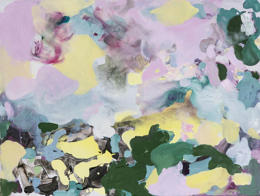 Rosa Himmel_2019_Acryl und Öl auf Nessel_70 x 90 cm