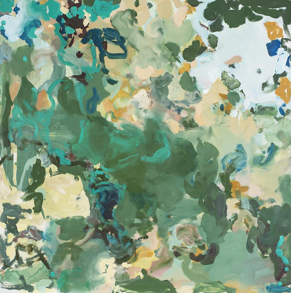 Bei Leonidio_2019_160 x 180 cm_Acryl und Öl auf Nessel
