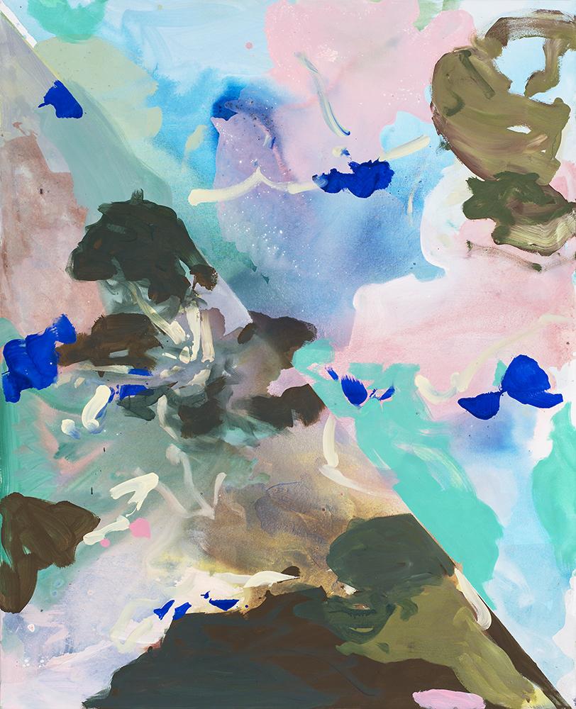 Blaue Wasser_2017 Acryl und Öl auf Nessel_160 x 130 cm