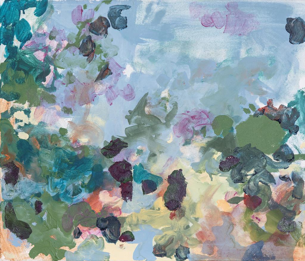 Bunte Studie_2019Acryl und Öl auf Nessel_ 60 x 70 cm