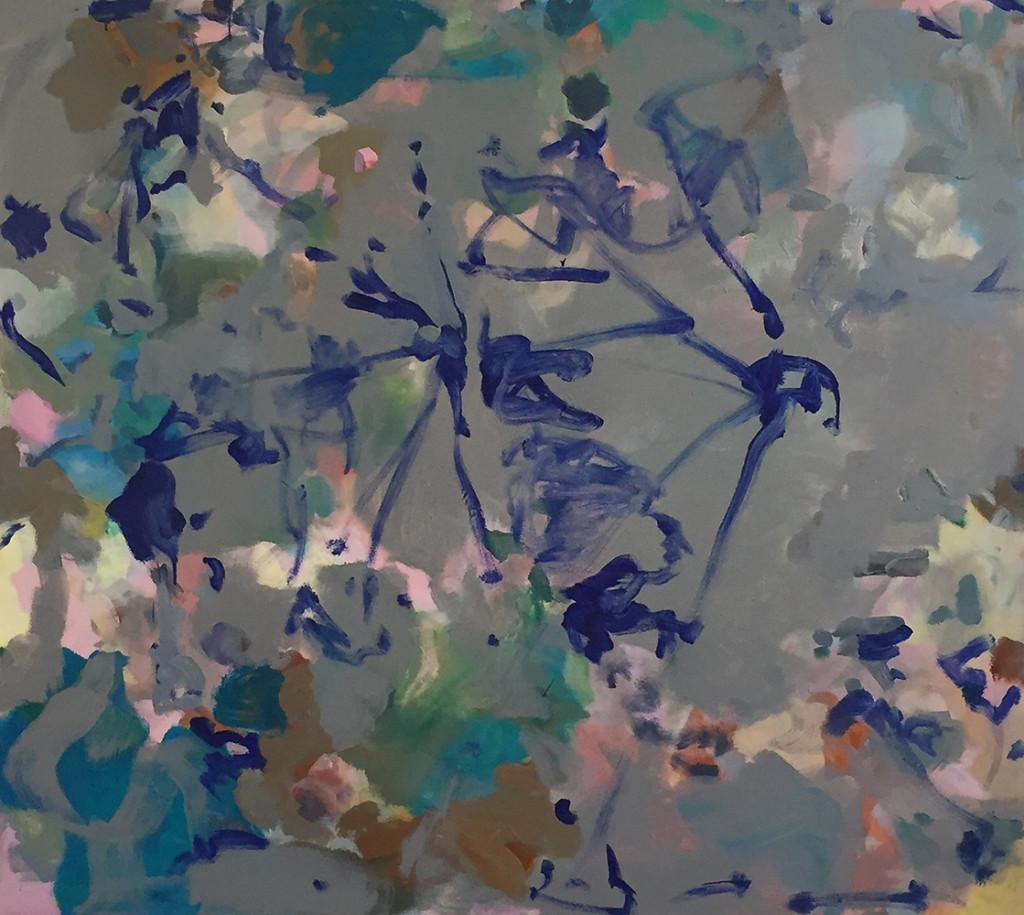 Grauer Tümpel_2019_Acryl und Öl auf Nessel_160 x 180 cm