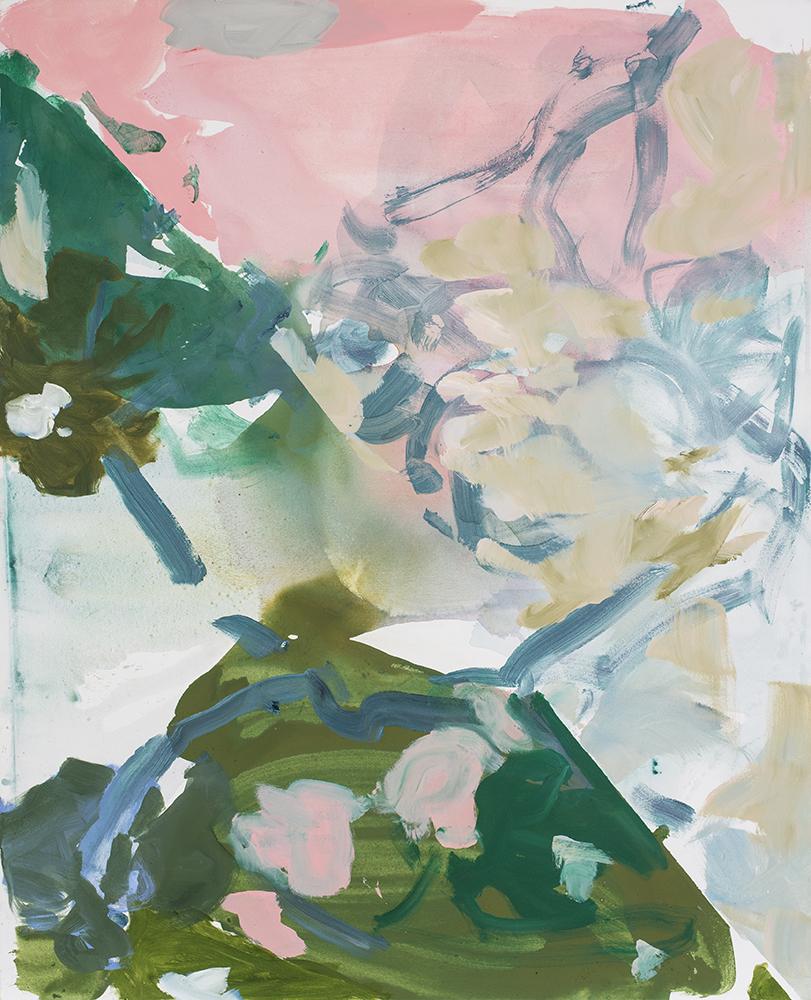 Rosa Schräge_2018_160 x 130 cm_Acryl und Öl auf Nessel